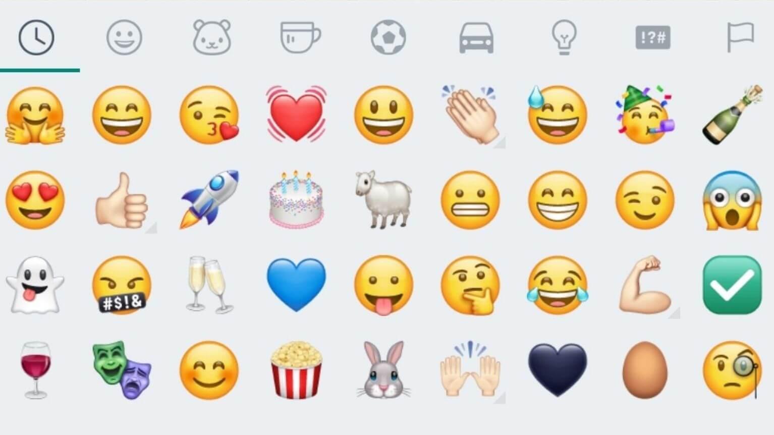 Zeichen sms smileys New Emoji