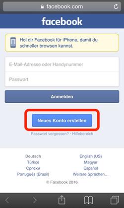 webseite kostenlos facebook anmeldung