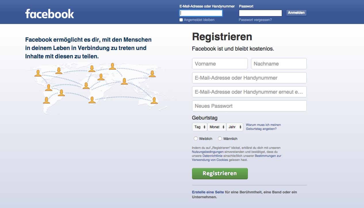 facebook anmelden de Hannover