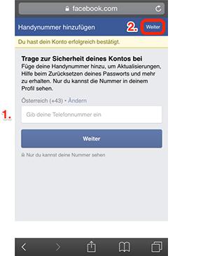 facebook anmelden handynummer