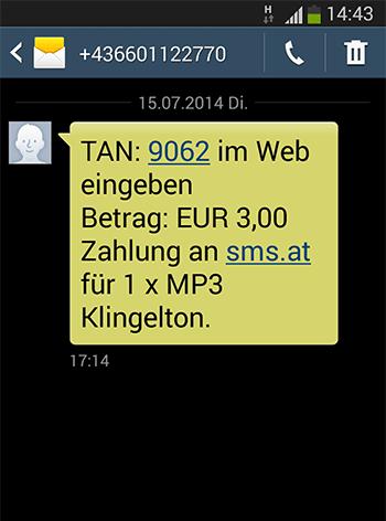 per sms bezahlen