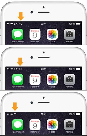 mobiles internet buchstaben